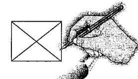 прямоугольник с двумя диагоналями