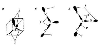 строение молекулы сероводорода